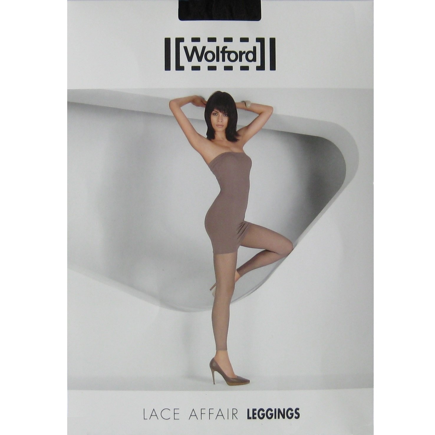 NIP Wolford Lace Affair Leggings #19054 - Sable (Taupe) - XS