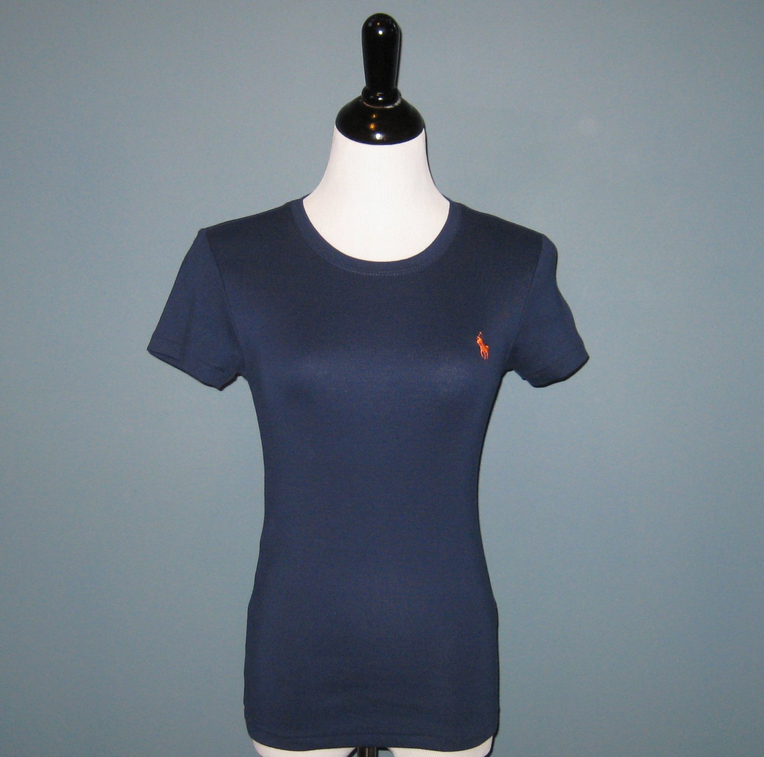 NWT Ralph Lauren Sport Navy Blue Cotton Crew Neck S/S Tee Shirt T-shirt Top - M