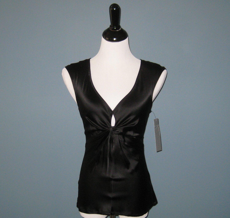 NWT Ladies Chaiken Black Silk Jessica Twist Top - 6