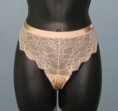 NWT Calvin Klein Nude/Beige Lace Front Thong #F3363 - L