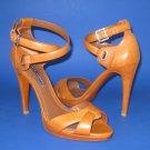 NEW Ralph Lauren Purple Label Vachetta Calfskin Gemma Sandal Heels 9.5B