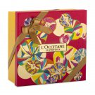 NEW L'Occitane En Provence Red Abstract Circles Gift Wrapping Box Set