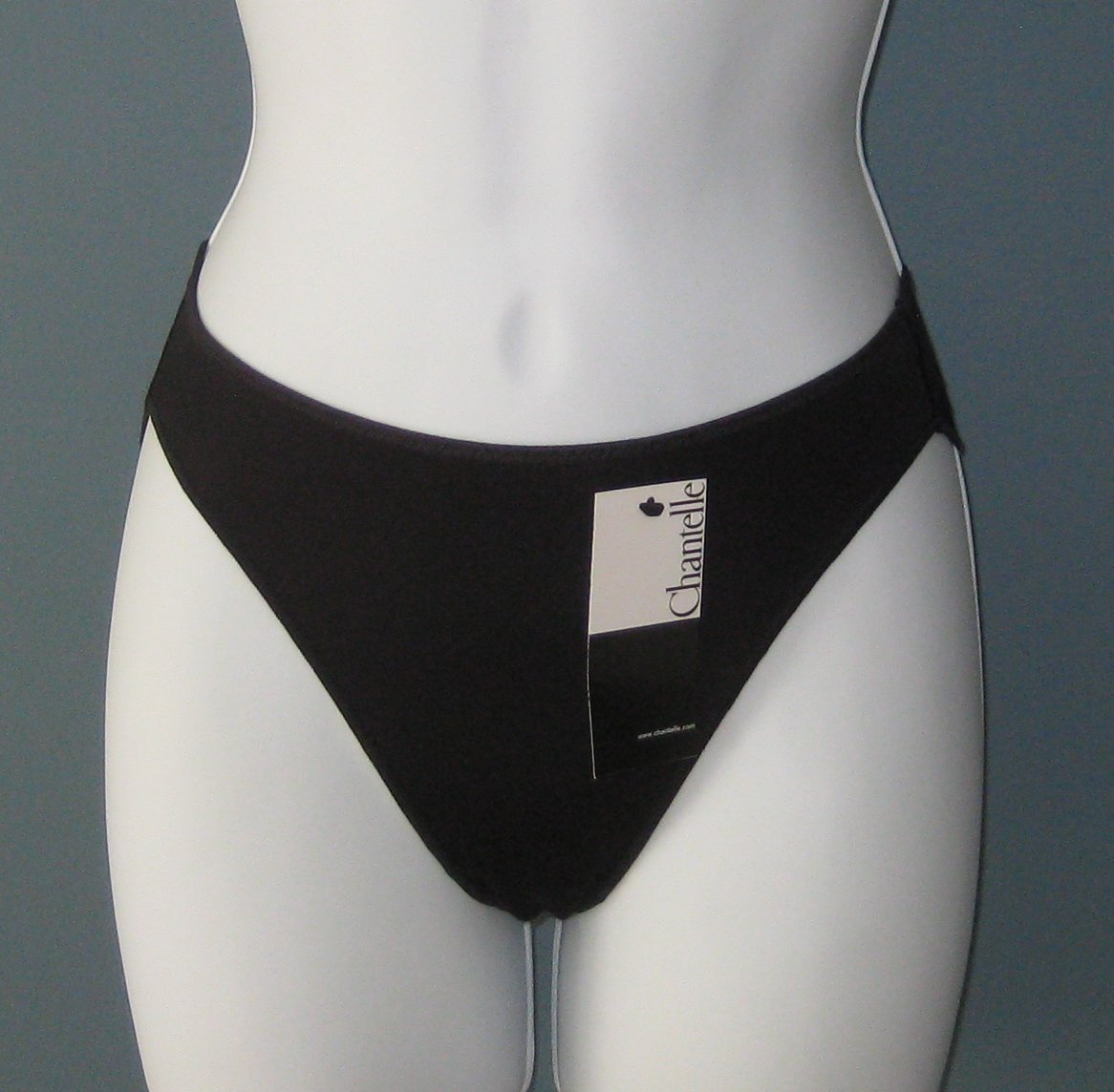 NWT Chantelle Black Invisible Slip Panty Brazilian Brief #3073 - XS