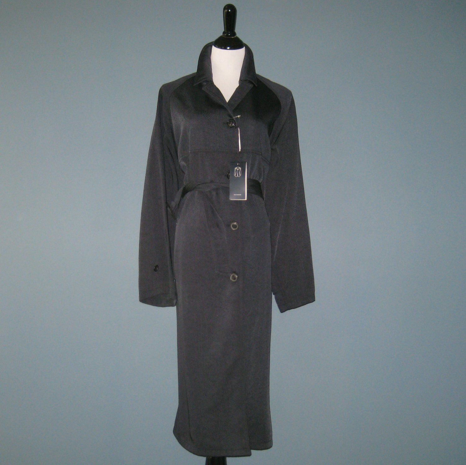 NWT Piazza Sempione Navy Blue Car Trench Top Coat - 44 IT