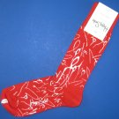 NWT Happy Socks Red w/White Curtis Kulig Love Me Cotton Socks