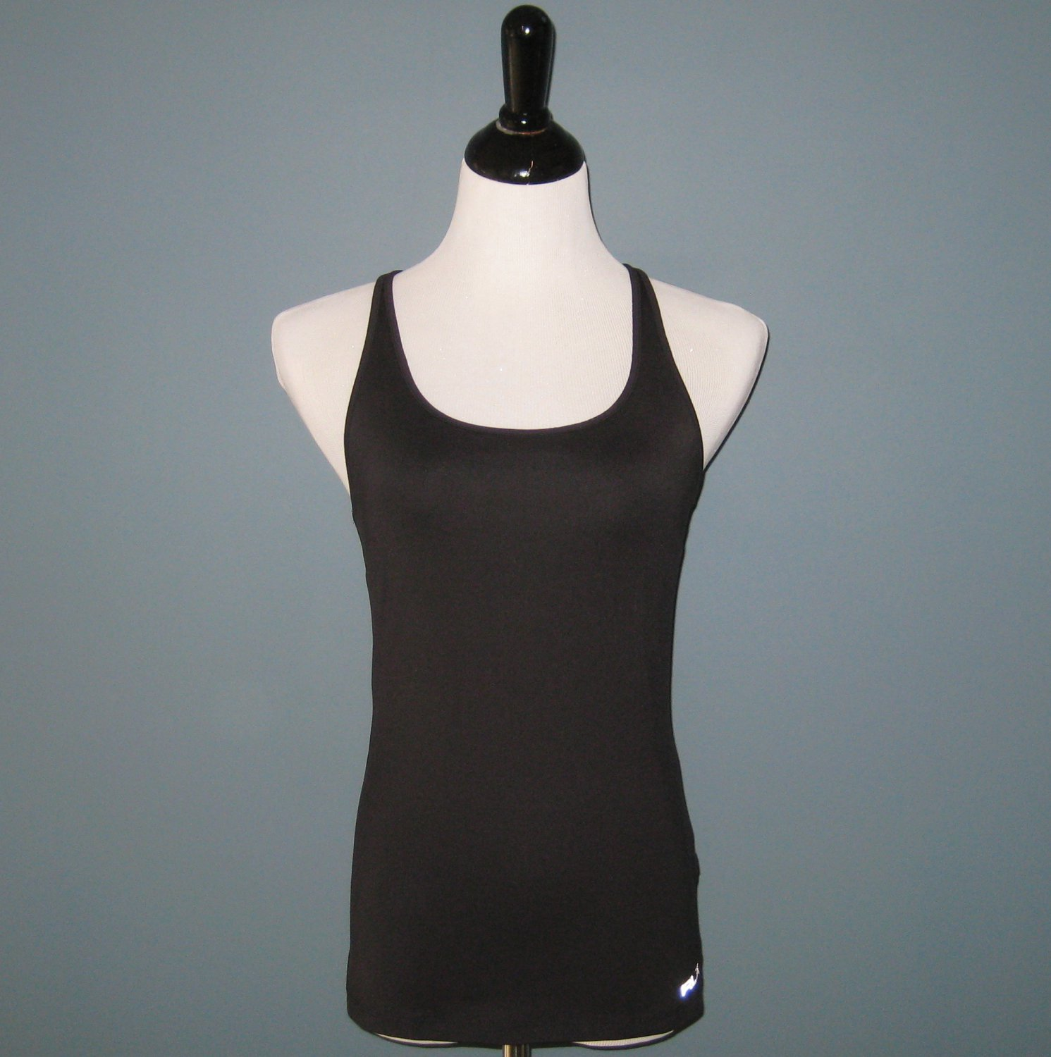 NWT Ralph Lauren RLX Black Racerback Athletic Wear Sport Top - S
