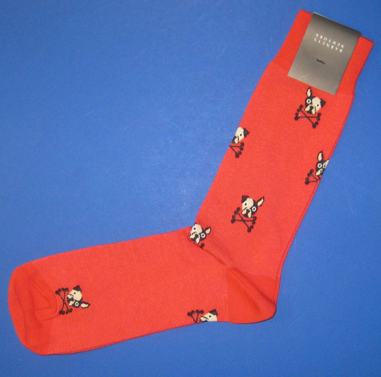 NWT Barneys New York Italian Red Dog & Bone Cotton Knit Socks