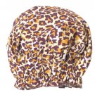 NIB Spa Sister Bouffant Shower Cap - Leopard Print