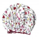 NIB Spa Sister Bouffant Shower Cap - Love Print