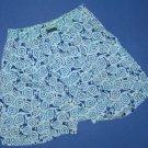 NIB Lilly Pulitzer True Blue High Roller 100% Cotton Boxer Shorts - XS