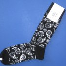 NWT Happy Socks Black & Ivory Paisley Cotton Socks