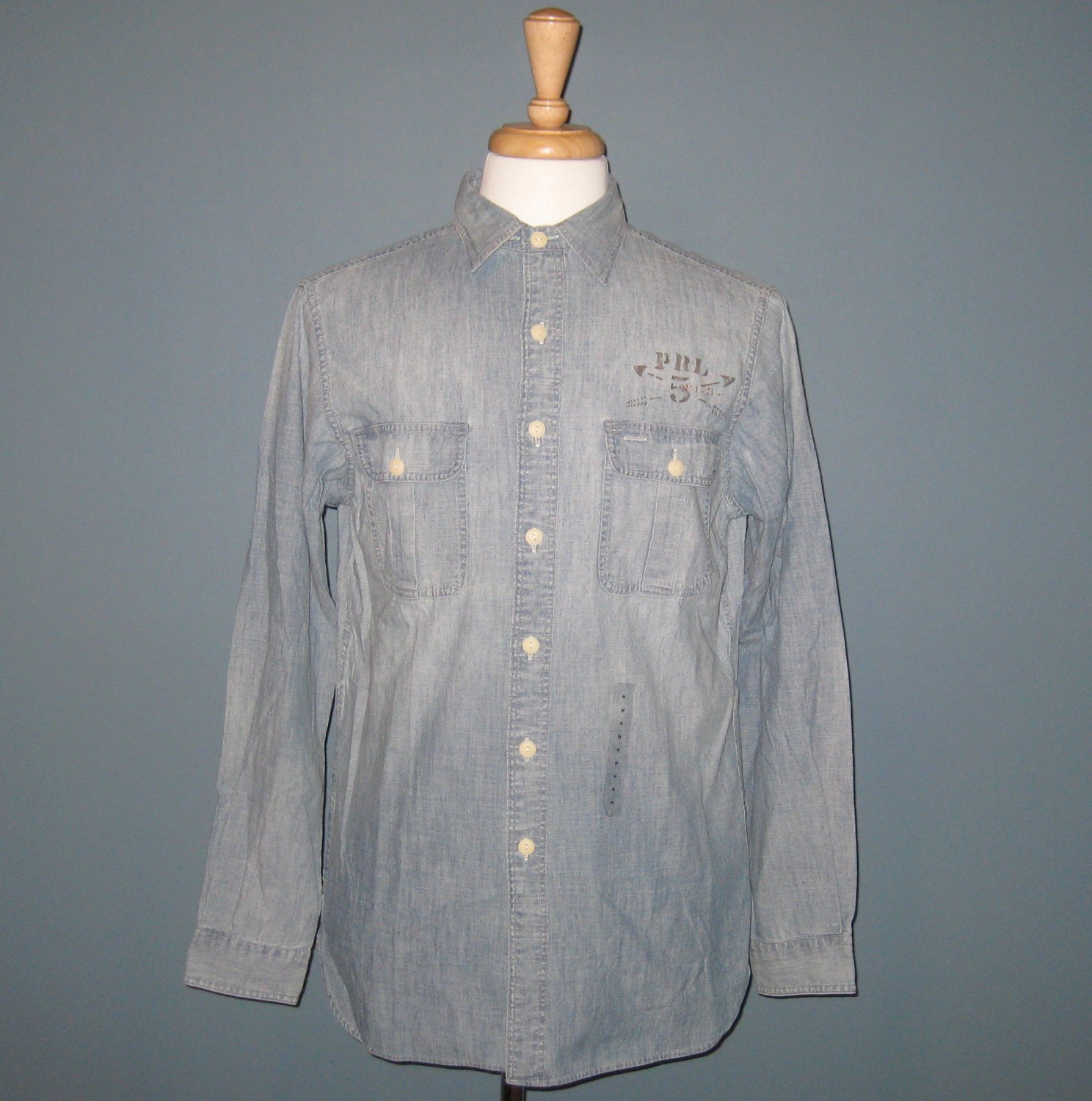 NWT Polo Ralph Lauren 100% Cotton Denim Chambray Shirt - M