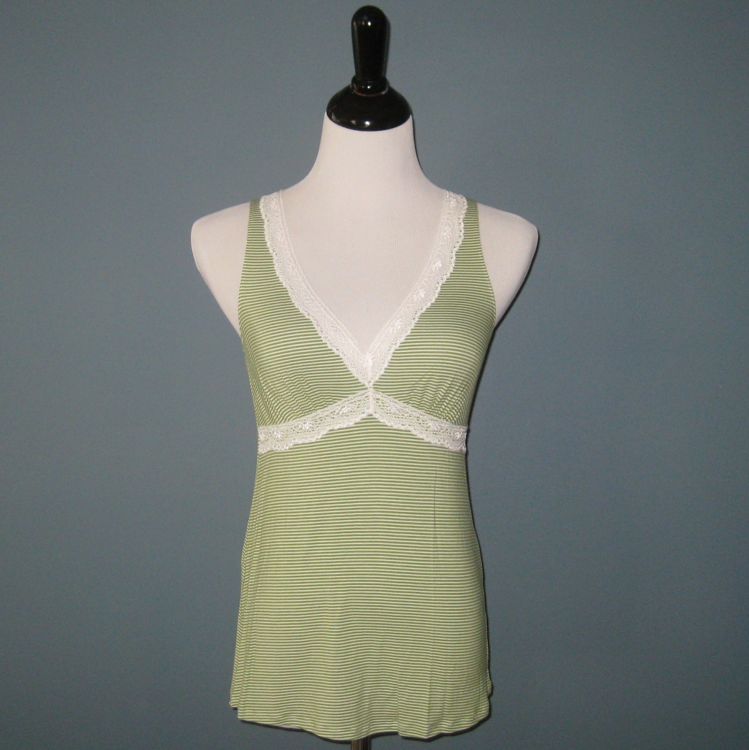 NWT Elle Macpherson Green Procession Bamboo Blend Sleep Tank Cami Camisole - S