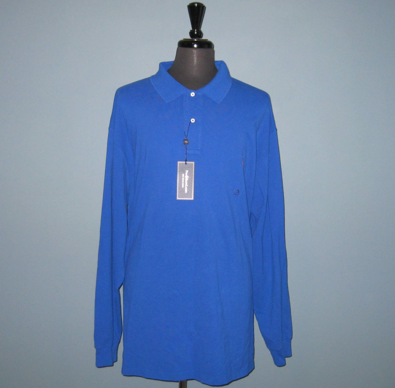 NWT Polo Ralph Lauren L/S Royal Blue Mesh Knit Polo Shirt - 4XLT