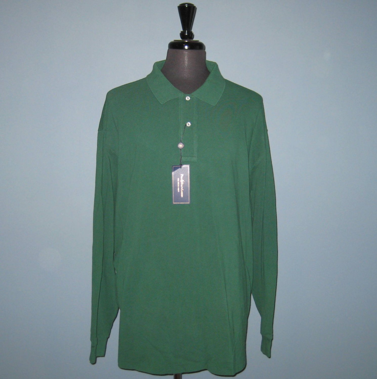 NWT Polo Ralph Lauren L/S Green Mesh Knit Polo Shirt - 3XB