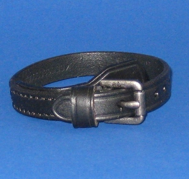 NWT Polo Ralph Lauren Equestrian Black Leather Buckle Wristlet Wrist Strap Bracelet