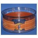 NIB Ralph Lauren Fairwood Glass w/Leather Band Bowl (Past Season) - FINAL SALE