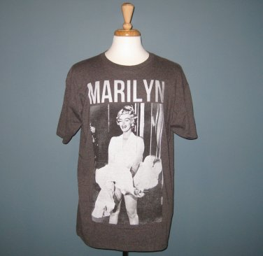 "NEW Marilyn Monroe Brown ""White Dress"" Cotton Blend Short Sleeve T-Shirt - XL"