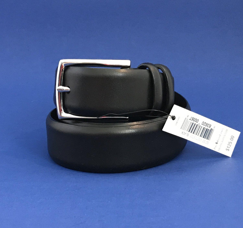 NWT Polo Ralph Lauren Men's Black Leather Belt - 32