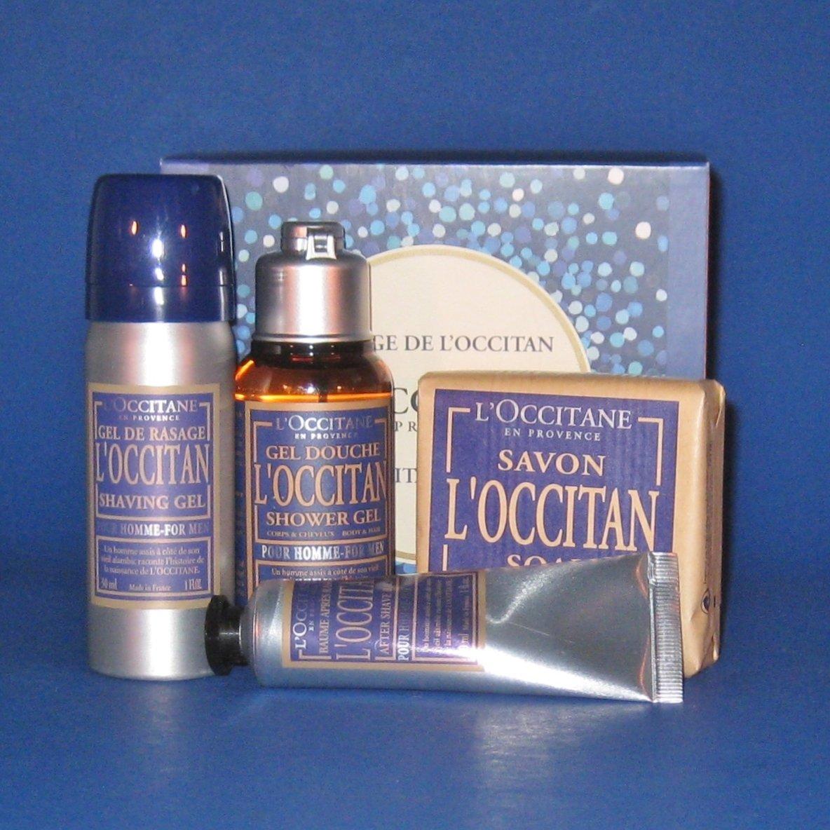 NIB L'Occitane 4-Piece L'Occitan Men's Por Homme Travel Gift Set