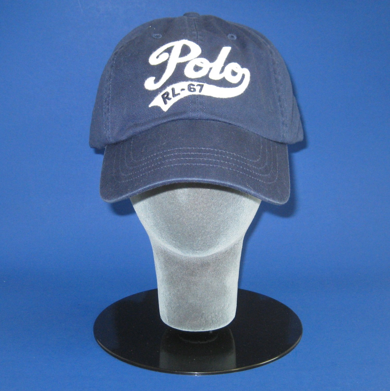 NWT Polo Ralph Lauren Blue Polo Script Cotton Chino Classic Baseball Cap Hat