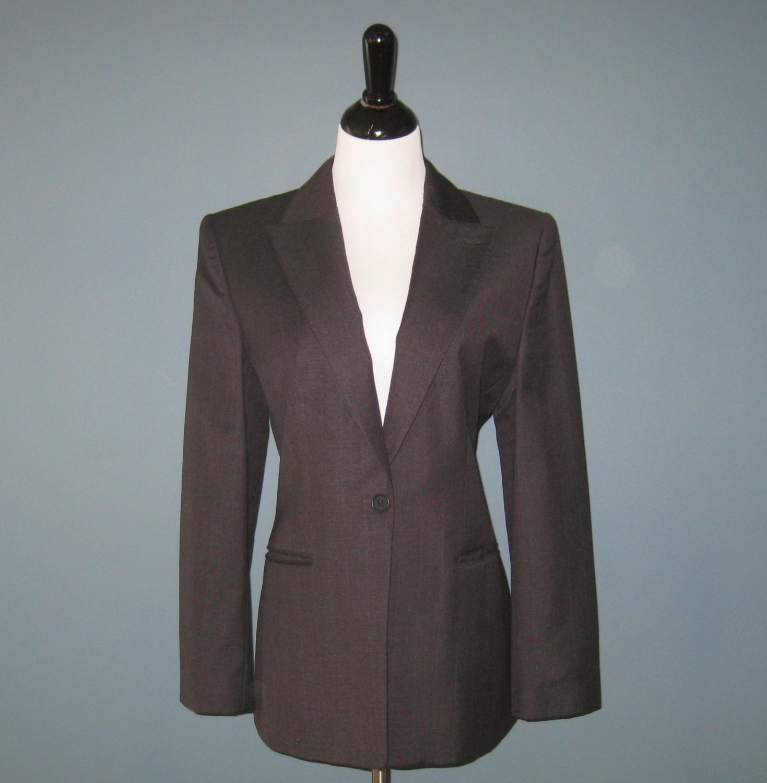 Pre-Owned Giorgio Armani Classico Super 150's 100% Wool Pinstripe Blazer Jacket - 48