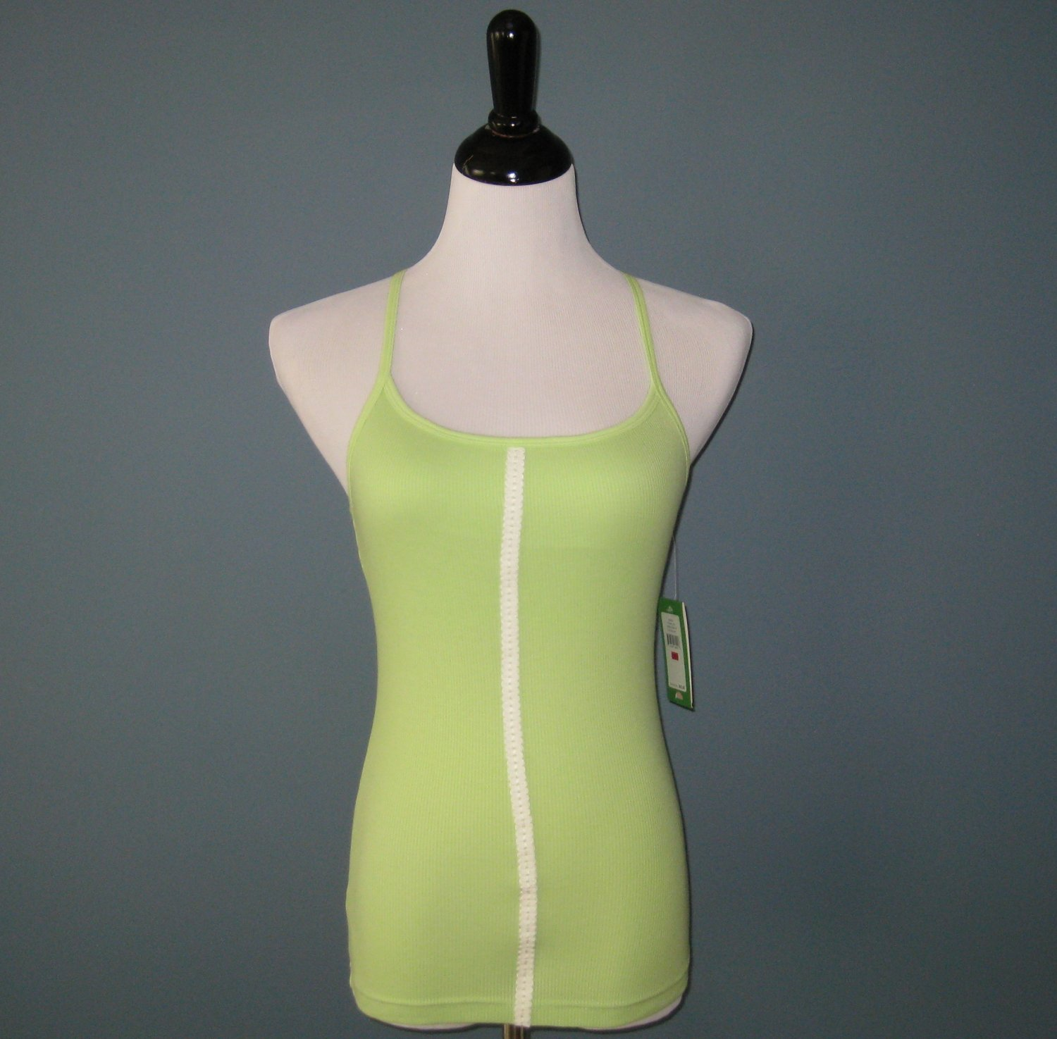NWT Lilly Pulitzer Green Cotton Modal Rib Knit Racerback Tank - XS