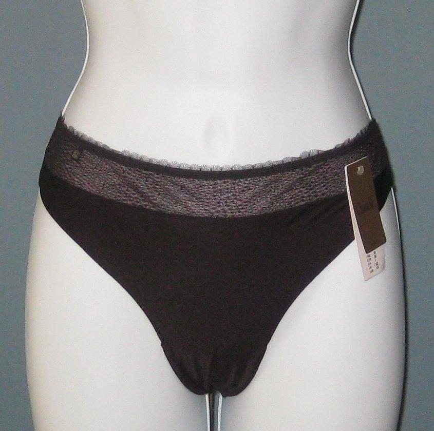 NWT Chantelle Black Galuchat Tanga Panty #2279 - M