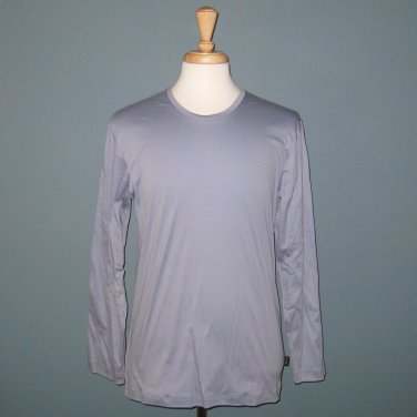 NWT Hanro of Switzerland Timber 100% Cotton Long Sleeve Shirt - Tempest - S