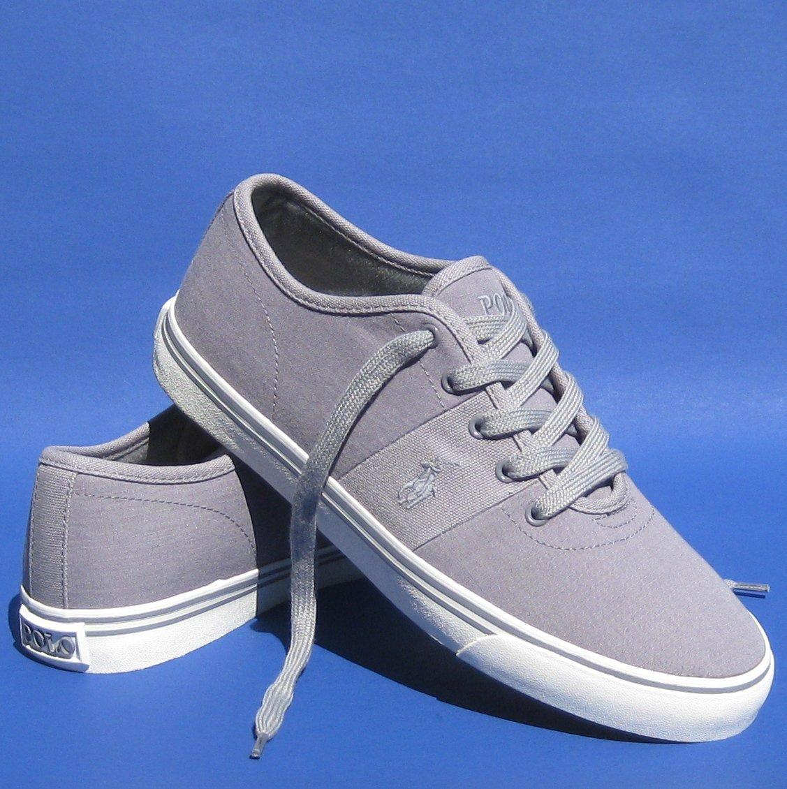 NIB Polo Ralph Lauren Men's Zadok Gray Athletic Sneakers Shoes - 11.5D