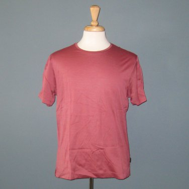NWT Hugo Boss Felipe 100% Cotton Short Sleeve Red Round Crew Neck T-shirt - L