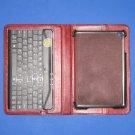 NIB Restoration Hardware Leather iPad Mini Cover w/Bluetooth Keyboard - Garnet Red