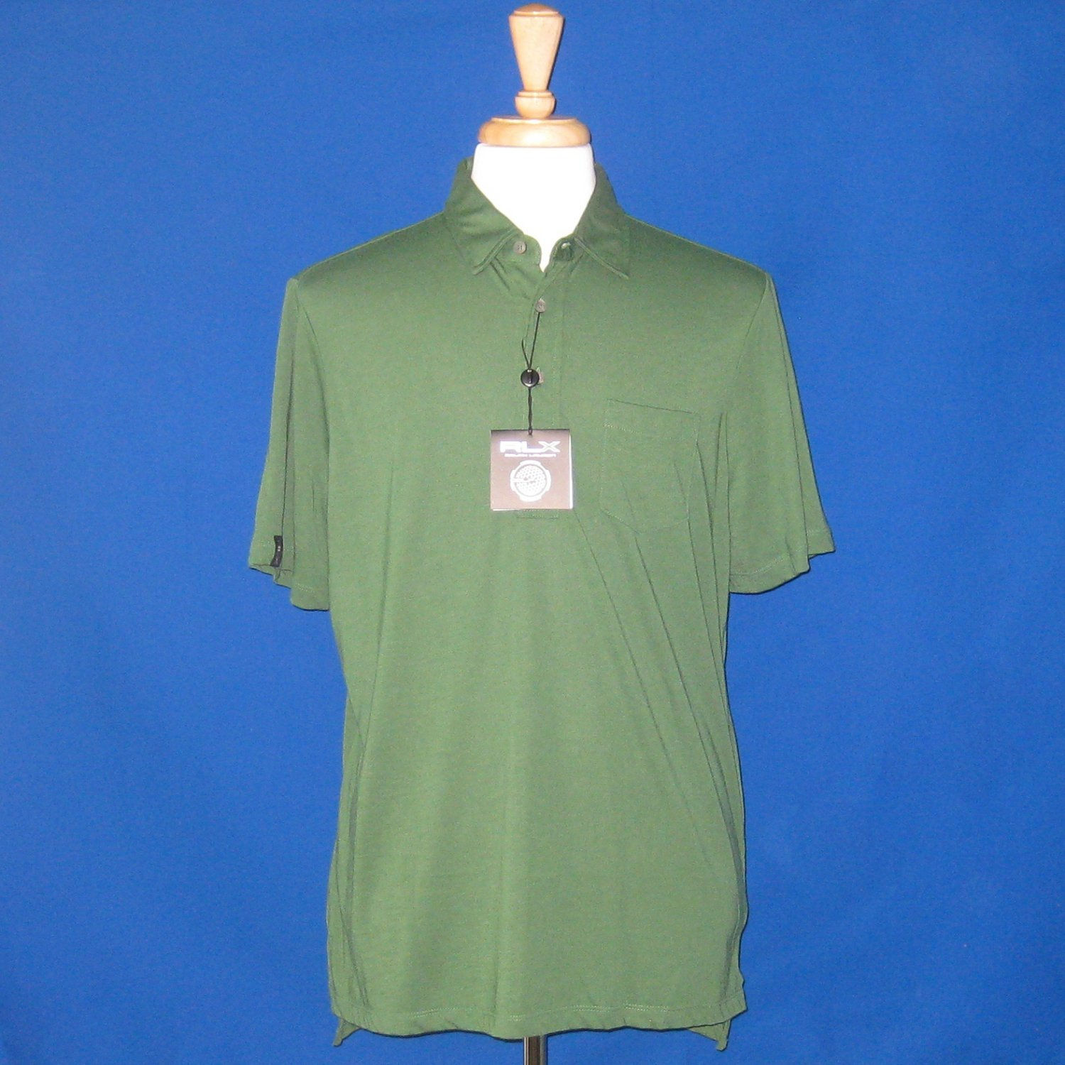 NWT Ralph Lauren RLX Green Cotton Blend Polo Shirt - L