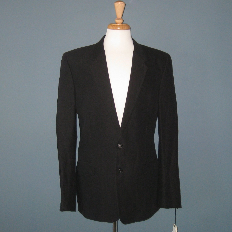 NWT Marc Jacobs Black Cotton/Ramie Tailored Sport Coat Blazer 54EU/44US
