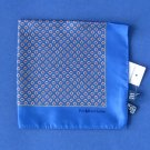 NWT Polo Ralph Lauren Blue Floral Foulard Print 100% Silk Handkerchief Pocket Square