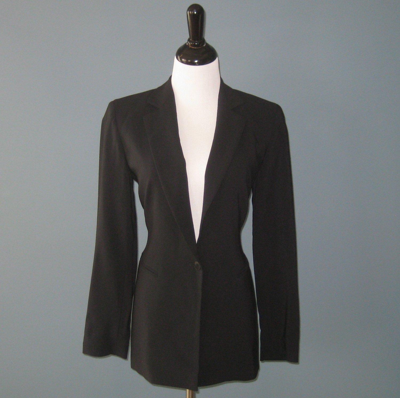 Pre-Owned Emanuel Ungaro 100% Wool Black Classic Fit Blazer Jacket - 2
