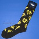 NWT Polo Ralph Lauren Black & Yellow Snowflake Lambswool Wool Knit Socks