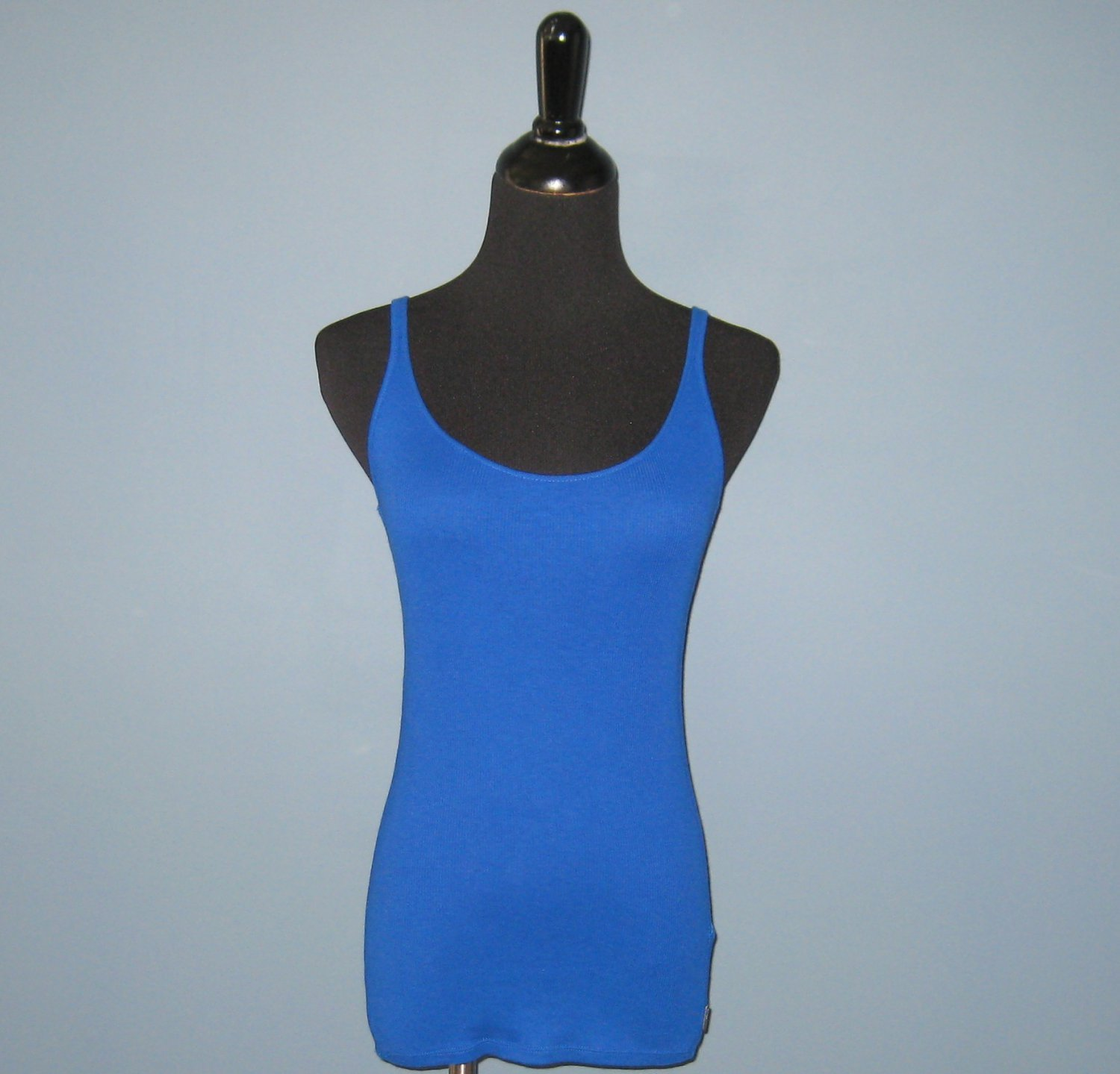 NWT Ralph Lauren RLX Royal Blue Cotton Blend Ribbed Spaghetti Tank Top - XS