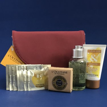 NIP L'Occitane Captivant & Divine Travel Essentials Gift Set - 11 Piece Set