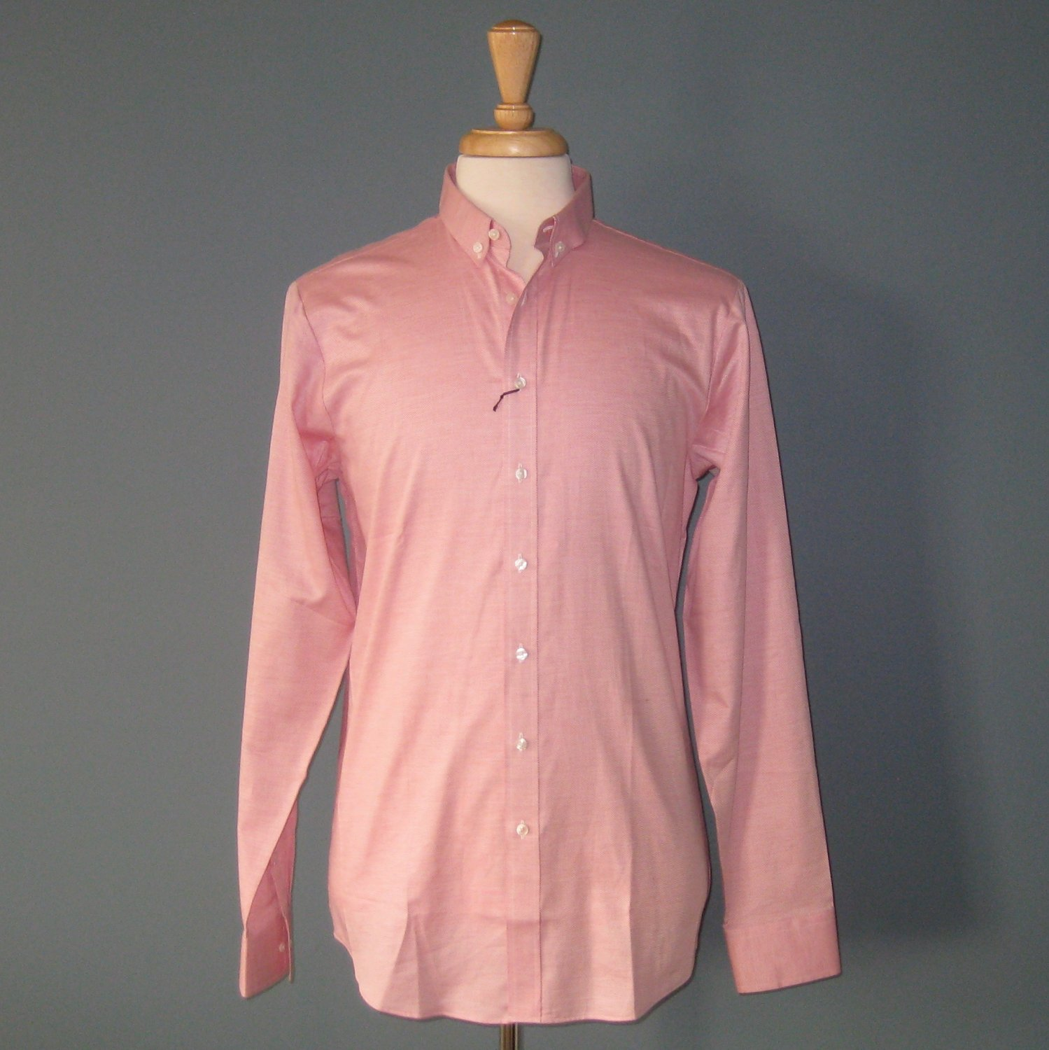 NWT Thomas Pink Pink L/S 100% Cotton Superfine Two Fold Oxford Dress Shirt - 16