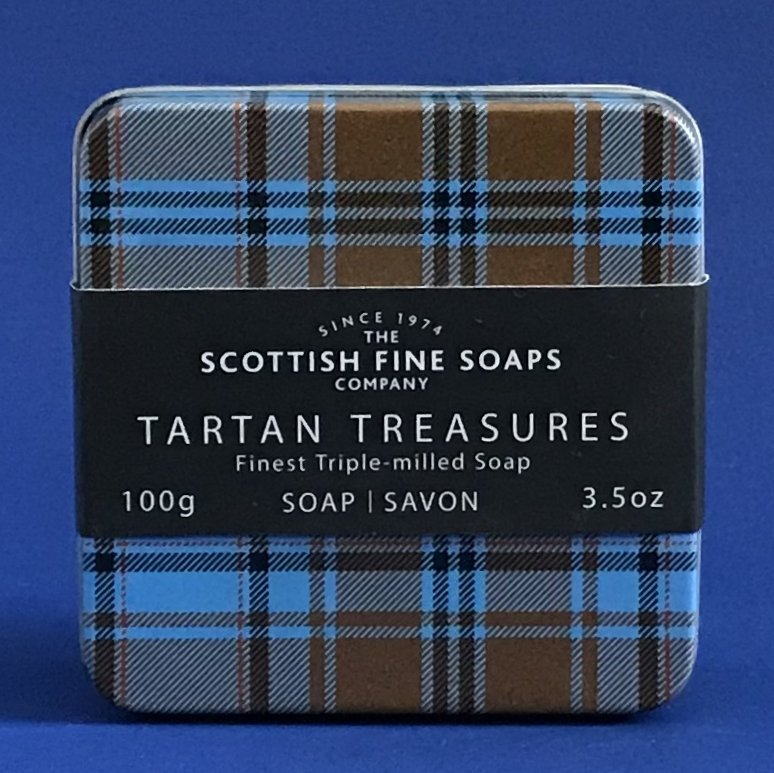 Scottish Fine Soaps Tartan Treasures Tin Collection 100G Soap - Bluebell