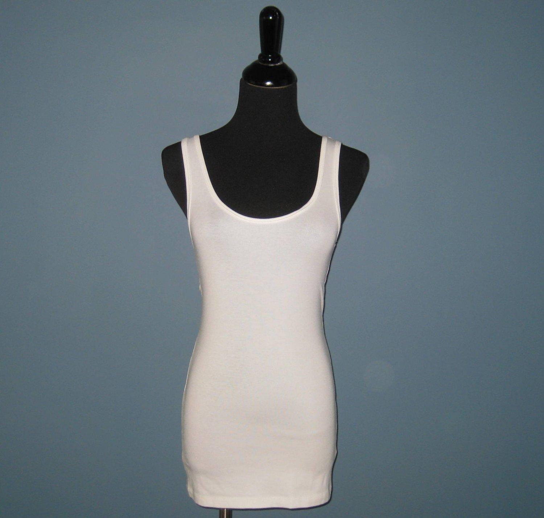 NWT Cynthia Rowley White Pima Cotton Modal Blend Tank Top - L