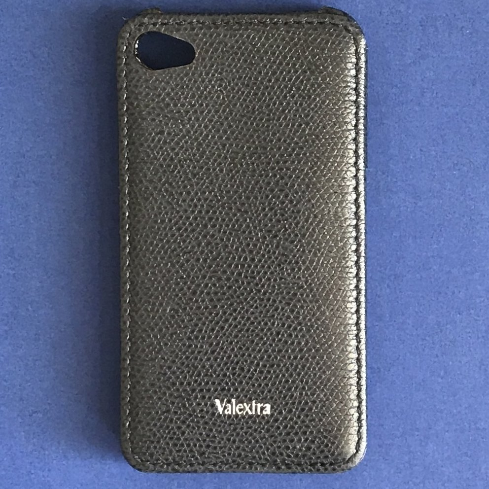 NEW Valextra Blue Grained Leather iPhone 4 & 4S Cover - FINAL SALE