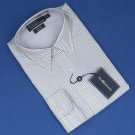 NWT Polo Ralph Lauren White w/Blue & Black Stripe Andrew Custom Fit Dress Shirt - 16/35