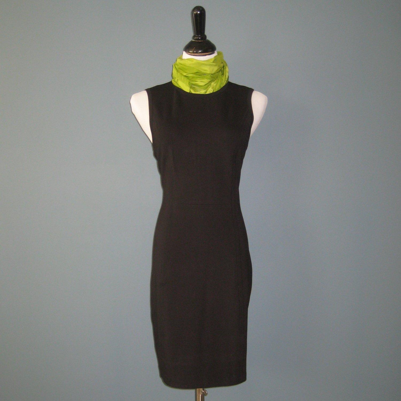 NWT A X Armani Exchange Black Sleeveless Tank BodyCon Sheath Dress - L