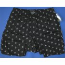 NWT Polo Ralph Lauren 100% Woven Cotton Black Allover Champagne Print Pajama Lounge Pants - M