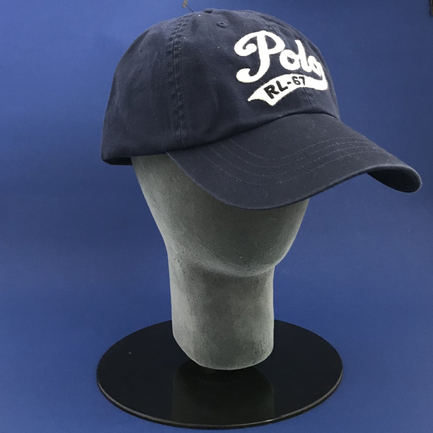 NWT Polo Ralph Lauren Blue Polo Script Cotton Chino Classic Baseball Cap Hat