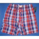 NWT Polo Ralph Lauren 100% Woven Cotton Red & Blue Plaid Print Pajama Lounge Pants - M