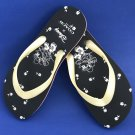 NWT Coach Limited Edition Disney X Minnie Mouse Motif Women's Flip Flop Sandals - 8