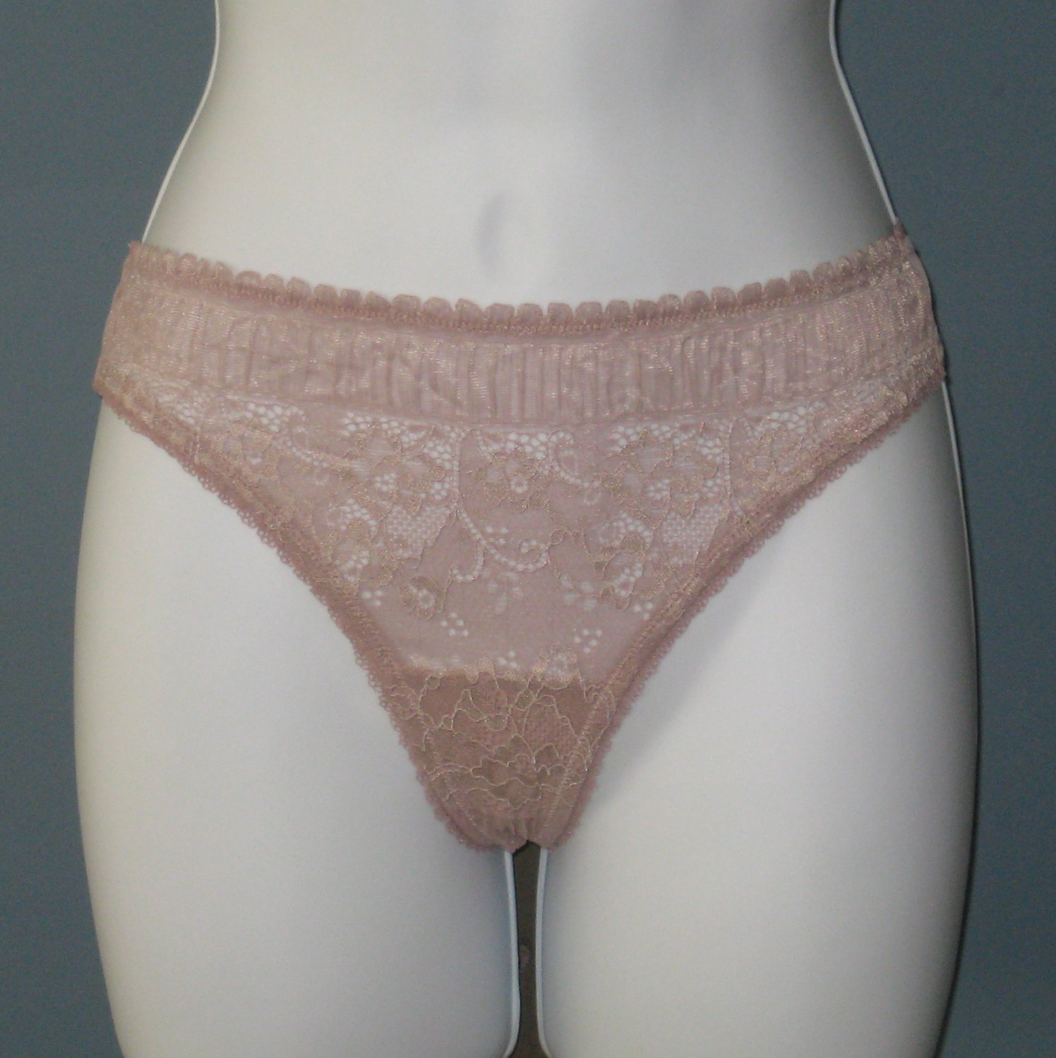NWT La Perla Studio Grayish Pink Looking For Lace Thong #0015266 - S
